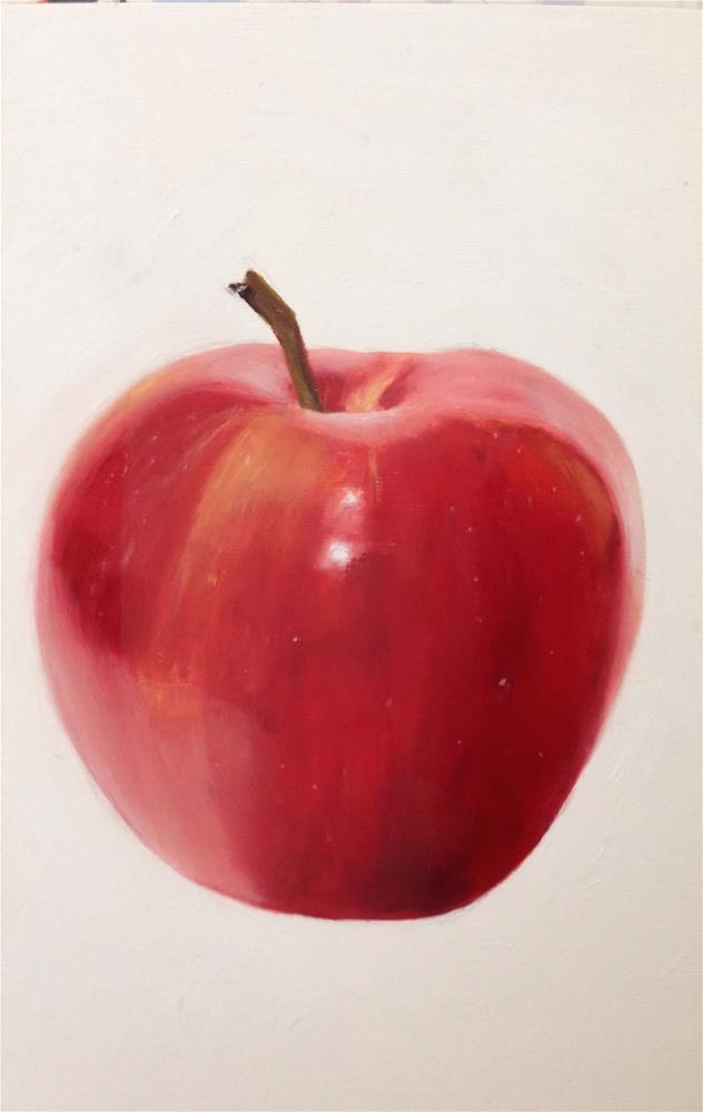 """Apple"" original fine art by James Coates"