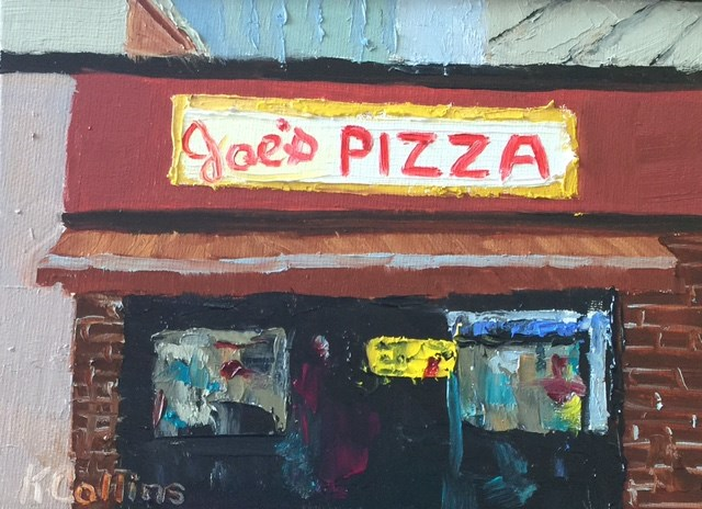 """Joe's Pizza"" original fine art by Kathy Collins"