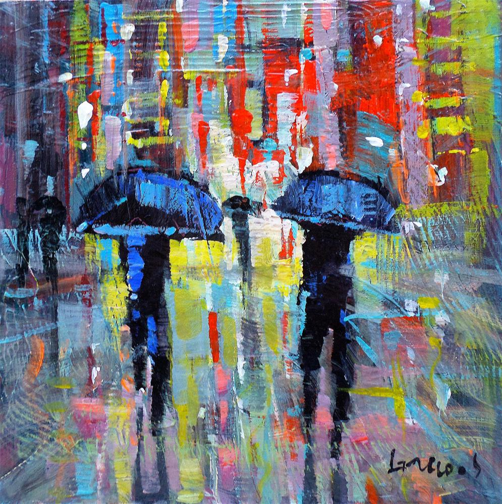 """Reflections in new york city 2"" original fine art by salvatore greco"
