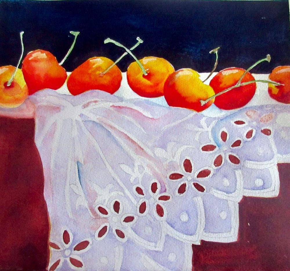 """Cherries"" original fine art by Margie Whittington"