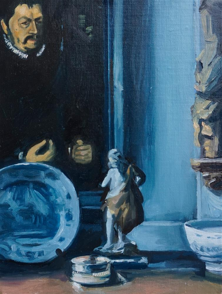 """Twickenham home of Lady Wakefield"" original fine art by Jeroen van der Velden"