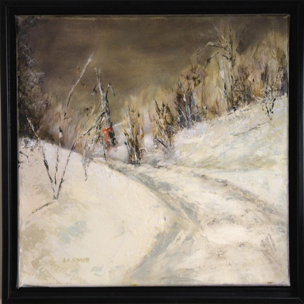 """The Dead of Winter"" original fine art by A.K. Simon"