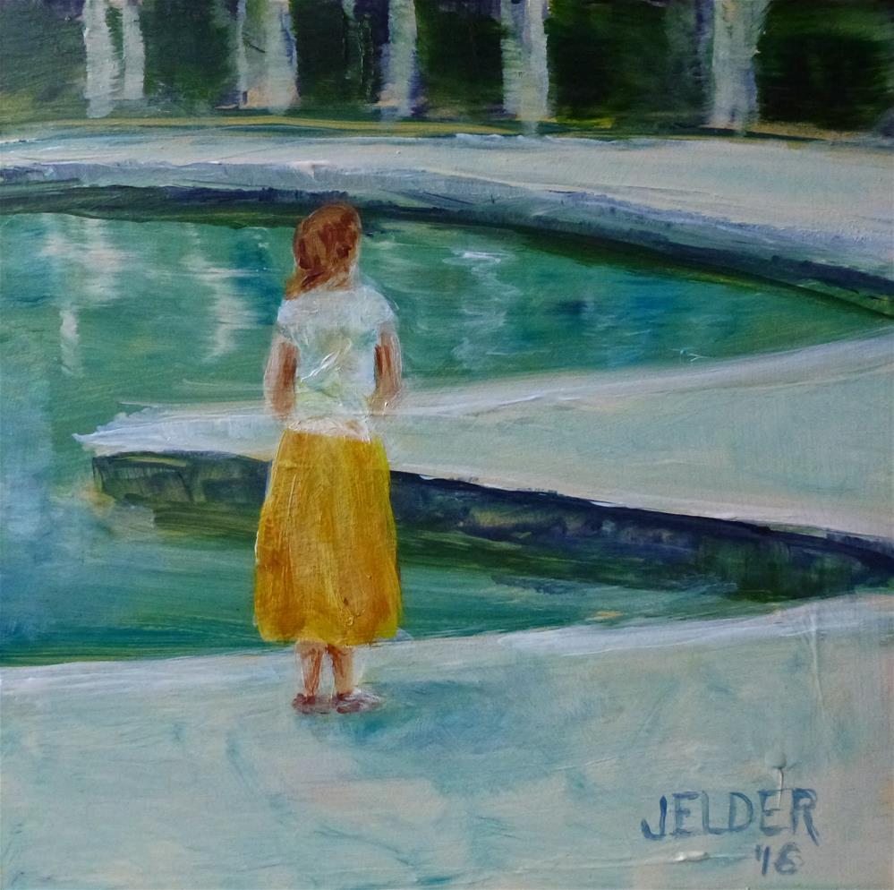 """Yellow Skirt No. 2"" original fine art by Judith Elder"
