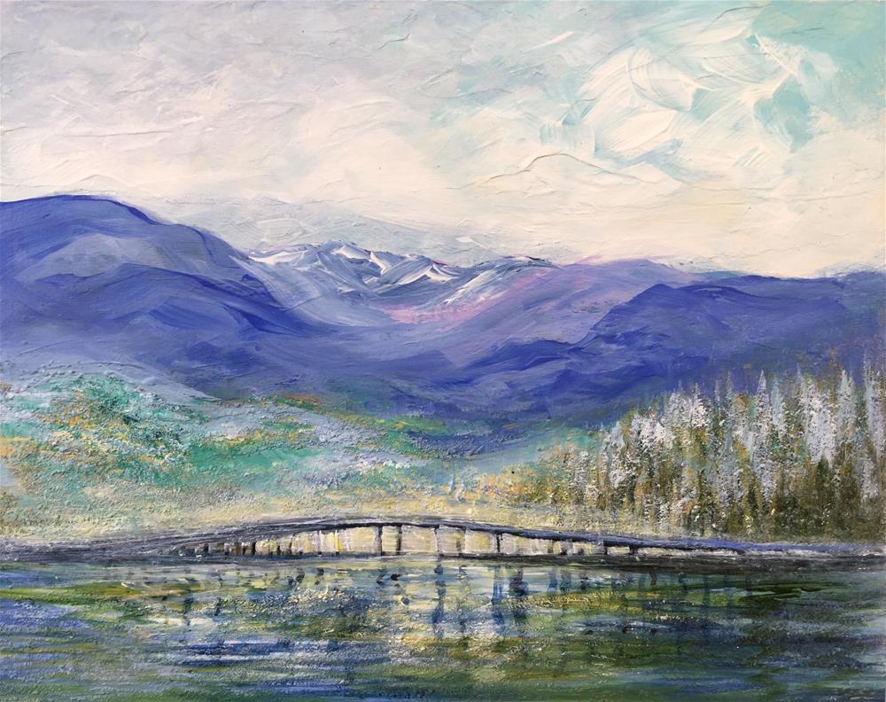 """6076 - Sawtooth and Bridge"" original fine art by Sea Dean"