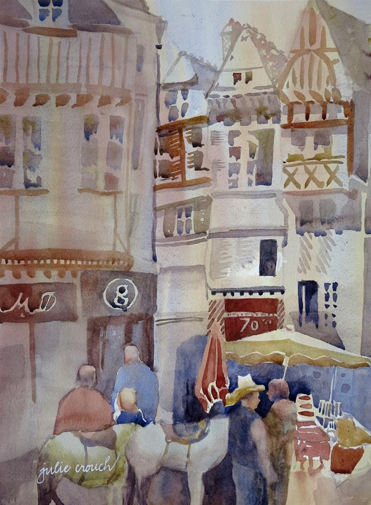 """Quimper"" original fine art by Julie Crouch"