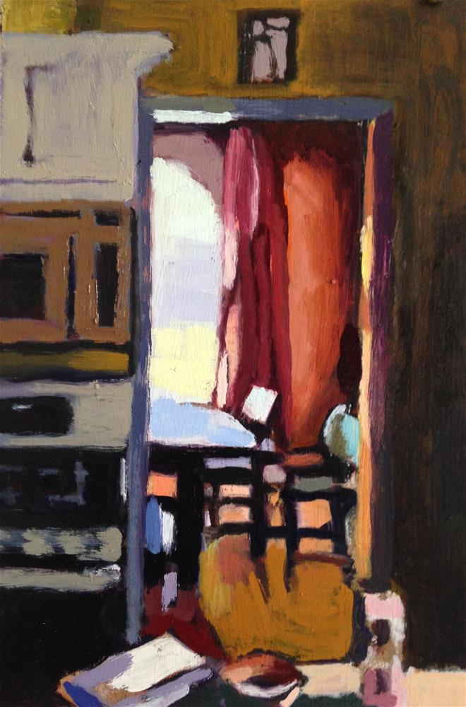 """From My Kitchen Into the Dining Room...Looking North"" original fine art by Pamela Hoffmeister"