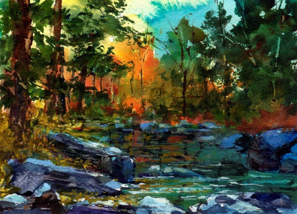 """""""Sunlight in Oak Creek Canyon"""" original fine art by Linda Henry"""
