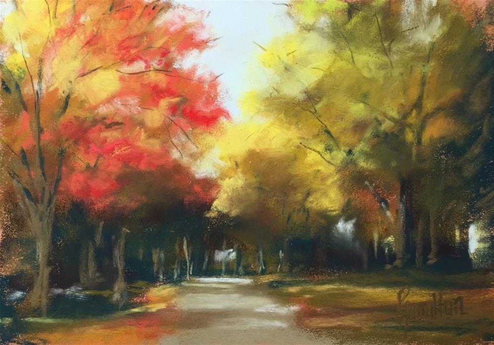 """Autumn on the Block"" original fine art by Pamela Hamilton"