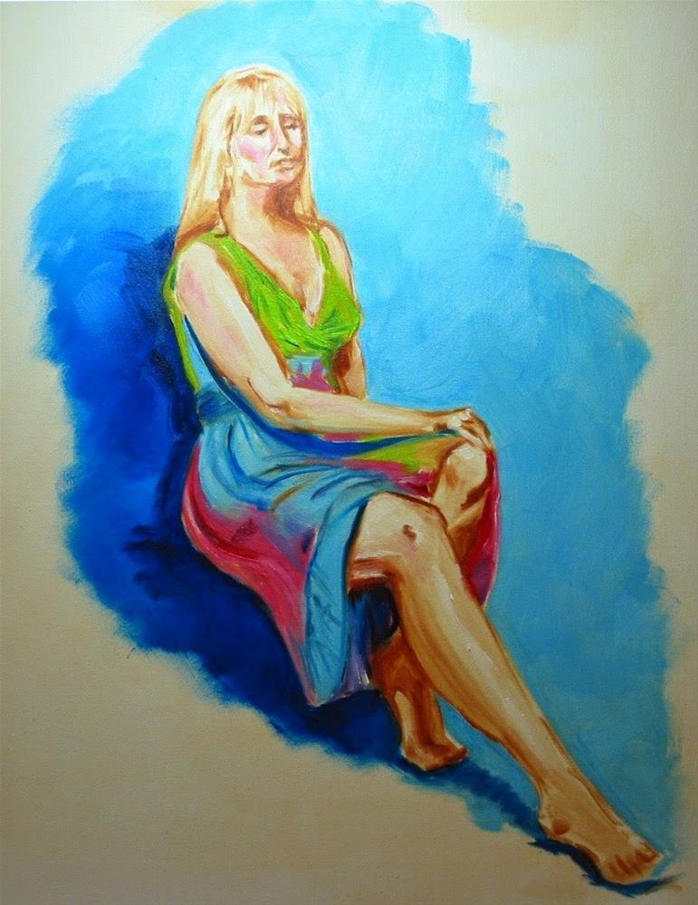 """model study"" original fine art by Patricia Murray"