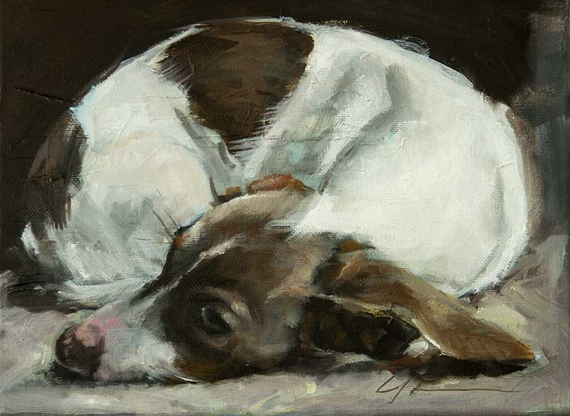"""Almost Asleep"" original fine art by Clair Hartmann"