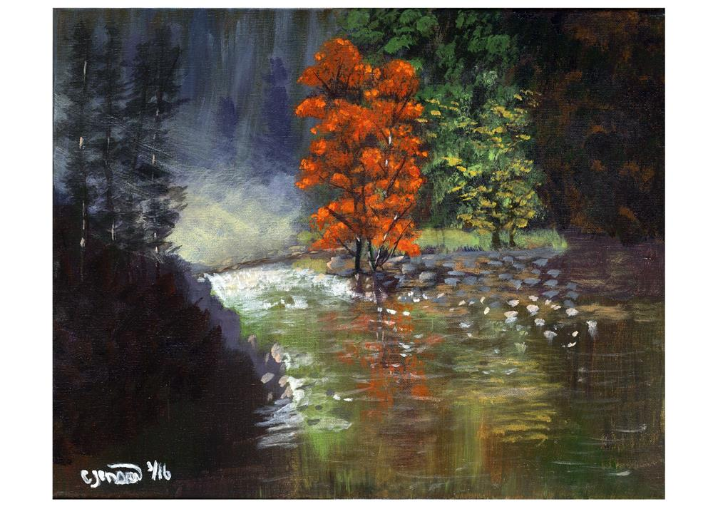 """God's Splendor"" original fine art by Cindy Jensen"