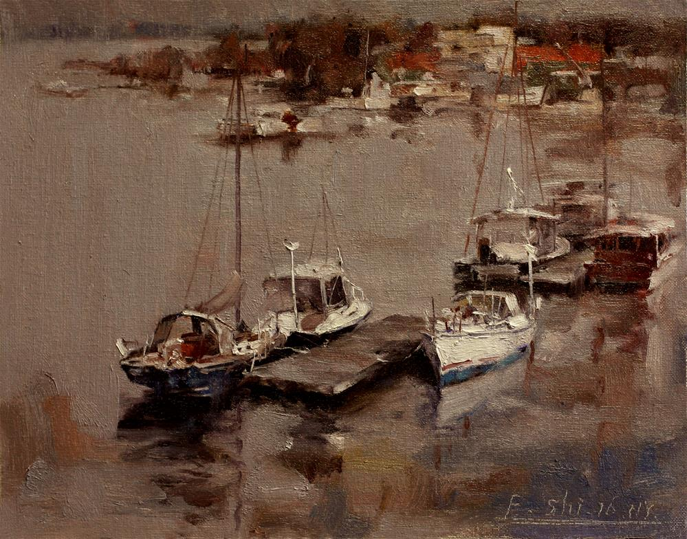 """Landscape"" original fine art by fengshi jin"
