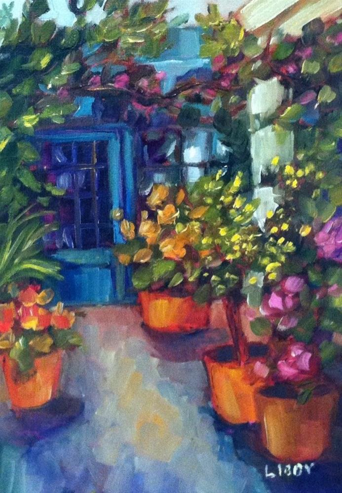 """Potting Shed"" original fine art by Libby Anderson"