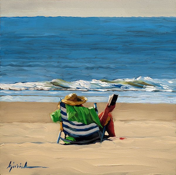 """Ocean"" original fine art by Karin Jurick"