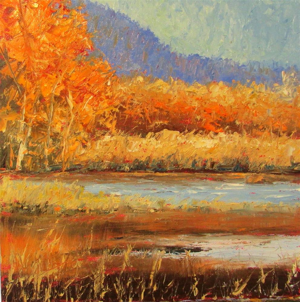 """12 x 12 inch oil"" original fine art by Linda Yurgensen"