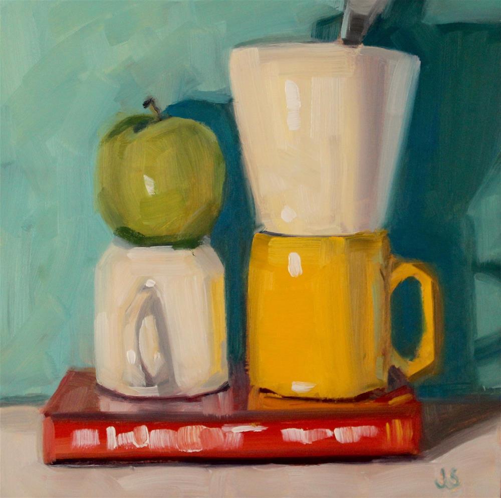 """February Book Club"" original fine art by Jamie Stevens"