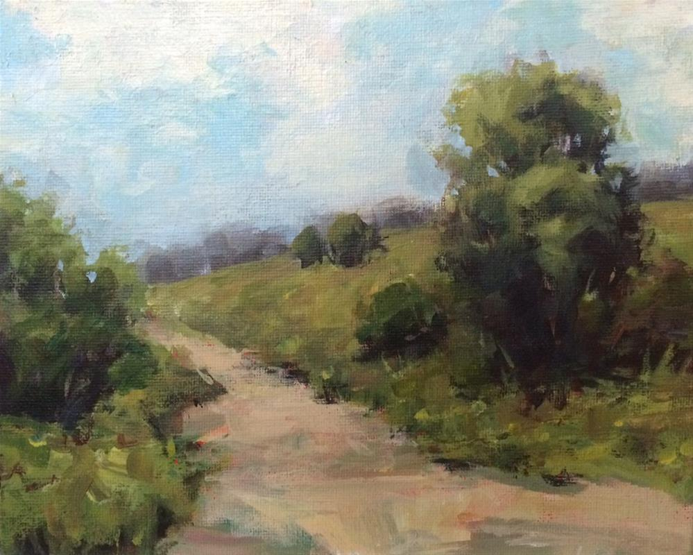 """Day for a Stroll"" original fine art by Shannon Bauer"