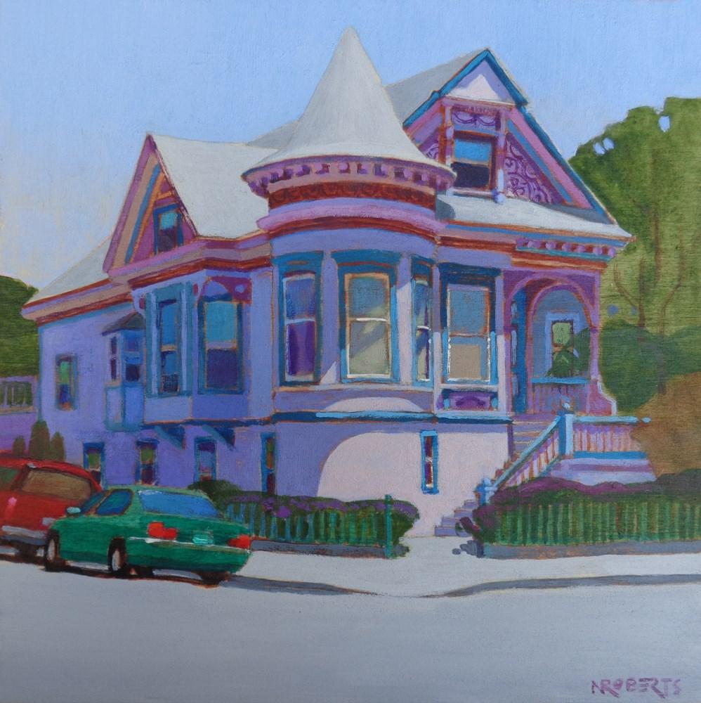 """Lilac House, Alameda"" original fine art by Nancy Roberts"