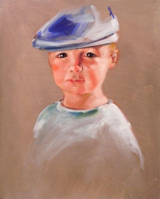 """Oliver"" original fine art by Cheryl Wilson"