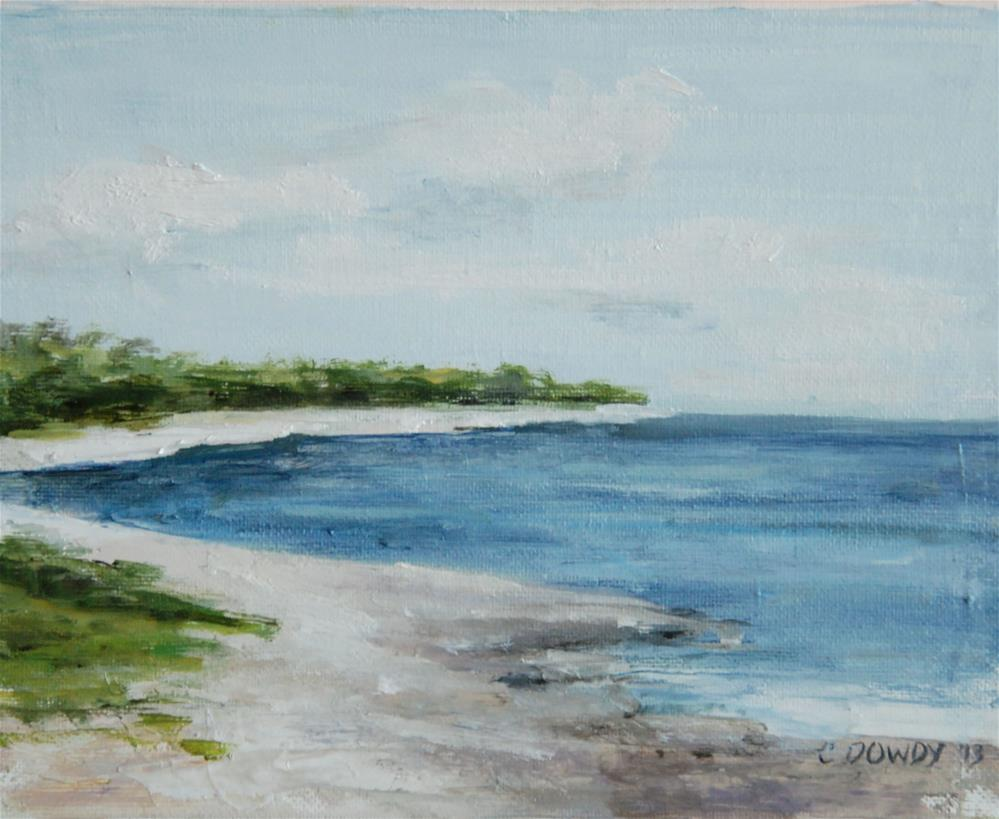 """Oil Sketch, Shore"" original fine art by Christina Dowdy"
