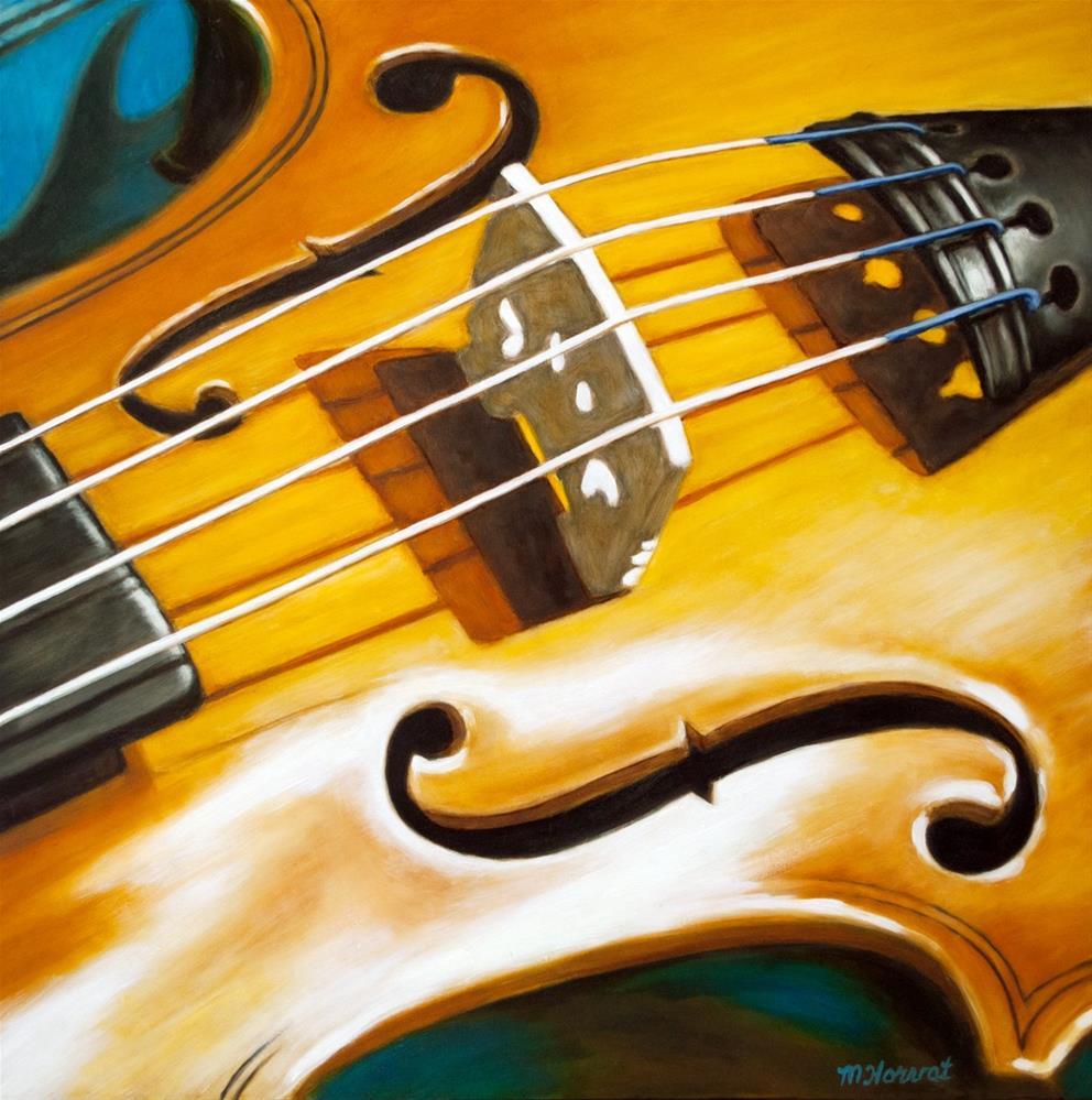 """""""Fiddle Fraction"""" original fine art by Margaret Horvat"""