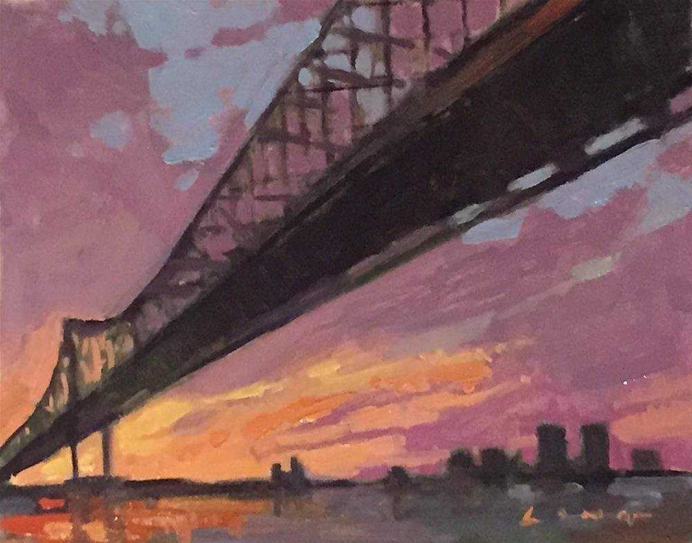"""Crescent Bridge Study"" original fine art by Chris Long"