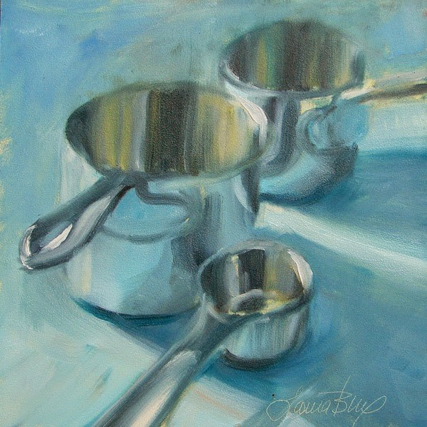 """Marching to the Kitchen - 304"" original fine art by Laura  Buxo"