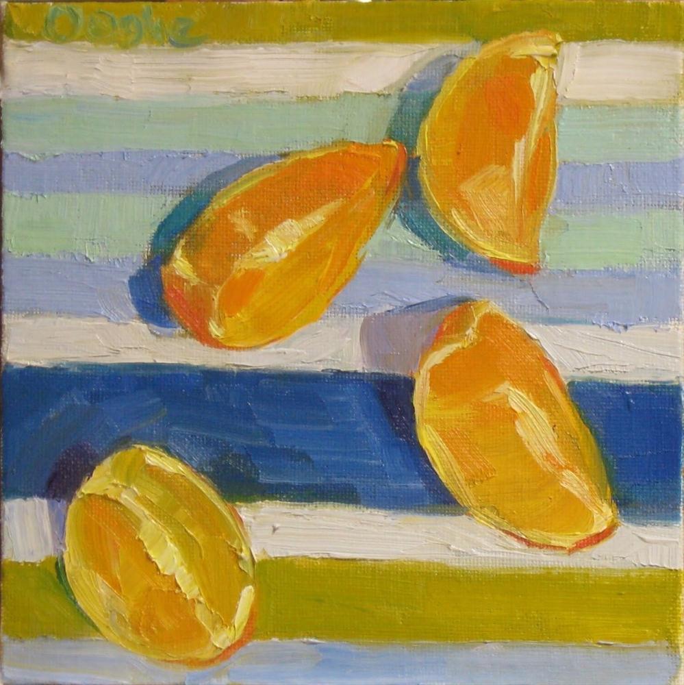 """""""Orange Slices"""" original fine art by Angela Ooghe"""