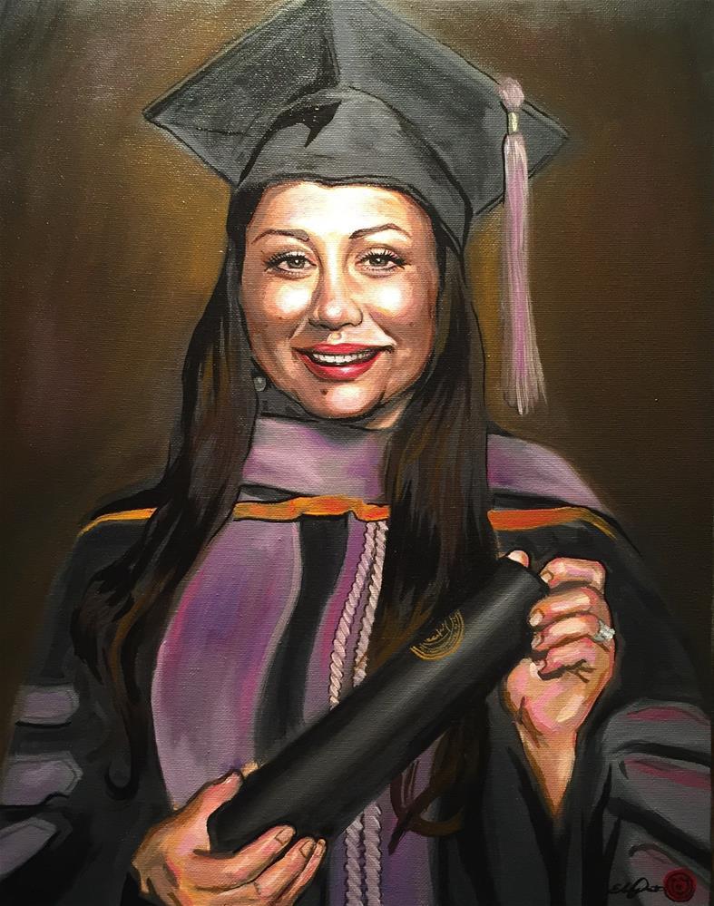 """""""Potrait of Brenda"""" original fine art by Eduardo Posadas"""