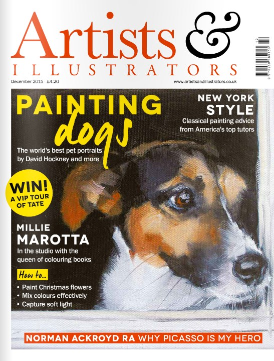 """The Cover of Artist and Illustrators Magazine!"" original fine art by Clair Hartmann"