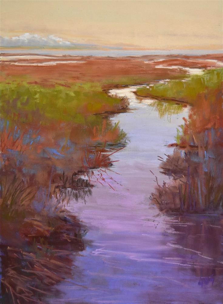 """River's end"" original fine art by Alejandra Gos"