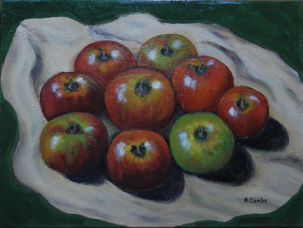 """Apple Harvest"" original fine art by Bebe Combs"
