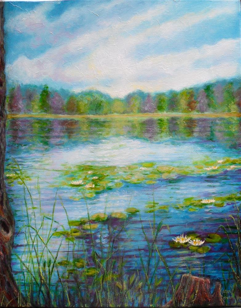 """Lily Lake"" original fine art by Karen Roncari"