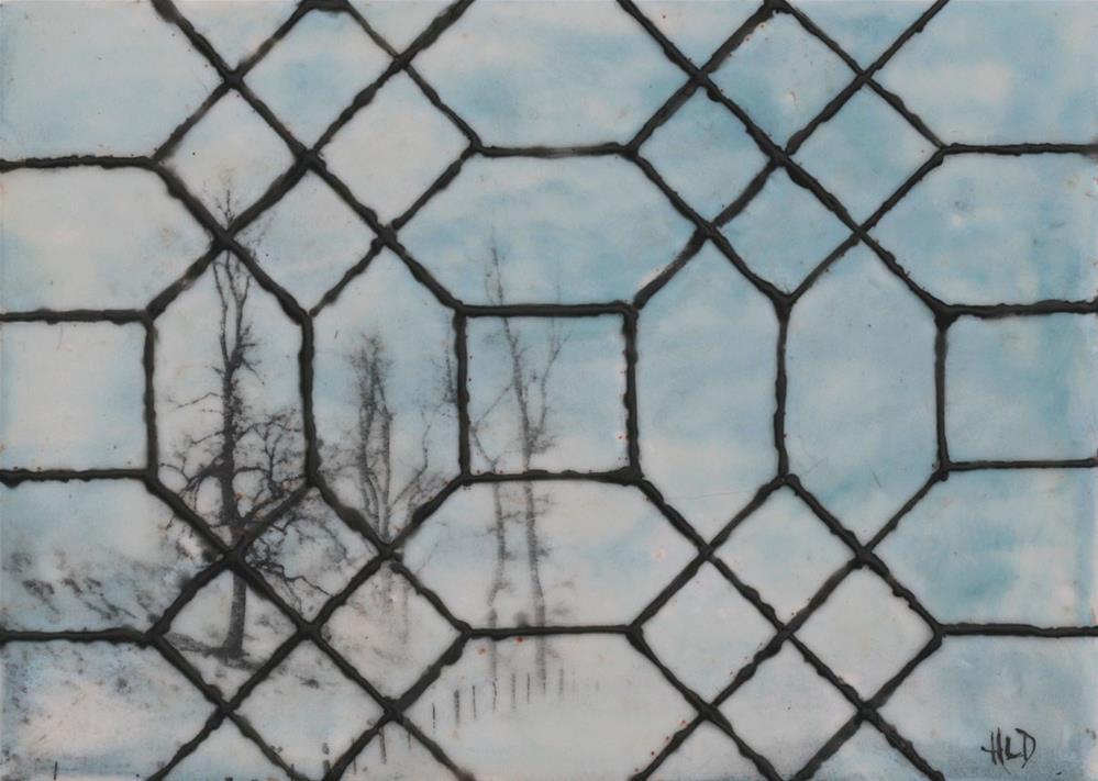 """Leaded Glass WIndow"" original fine art by Heather Douglas"