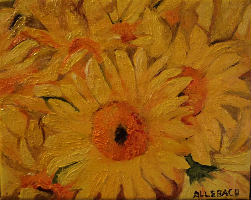 """bunch of sunflowers"" original fine art by Jo Allebach"