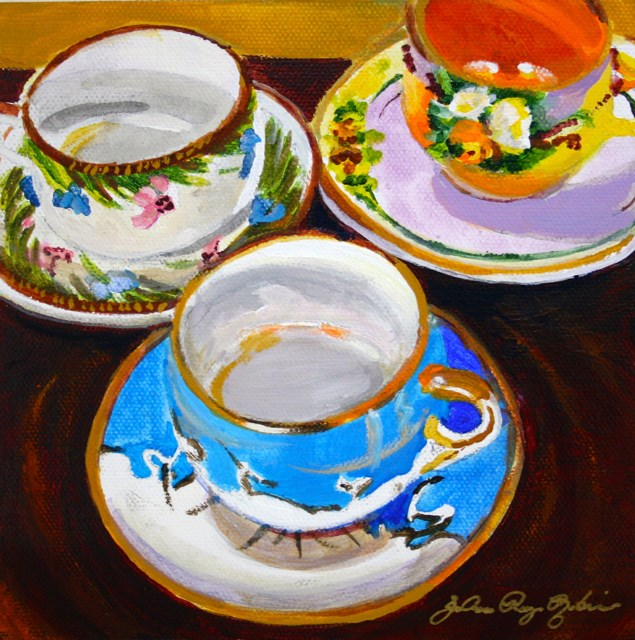 """Collectible Cups"" original fine art by JoAnne Perez Robinson"