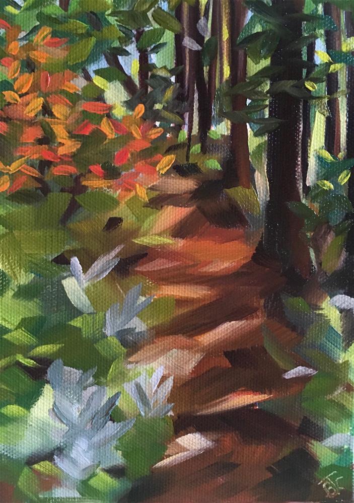 """A Cool Walk On A Hot Day"" original fine art by Bobbie Cook"