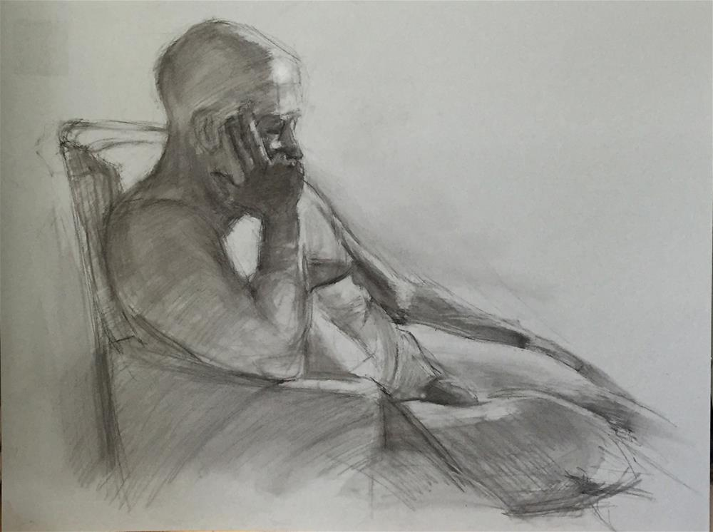 """Steve"" original fine art by Ellen Oconnell"