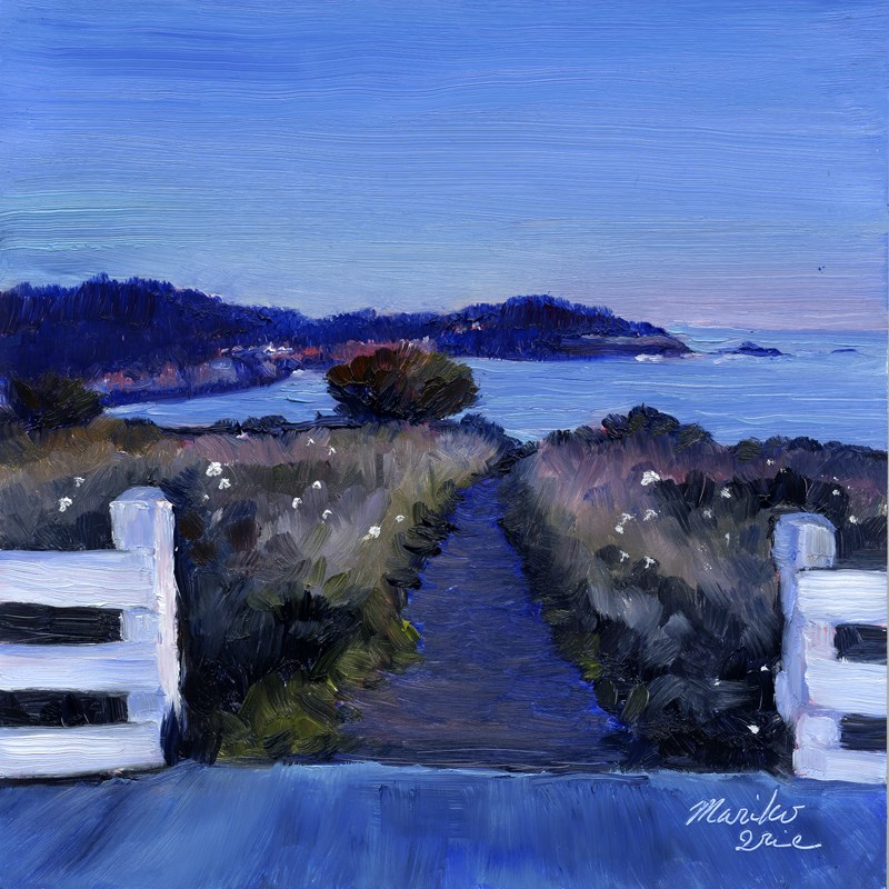"""Evening Mendocino Headlands"" original fine art by Mariko Irie"
