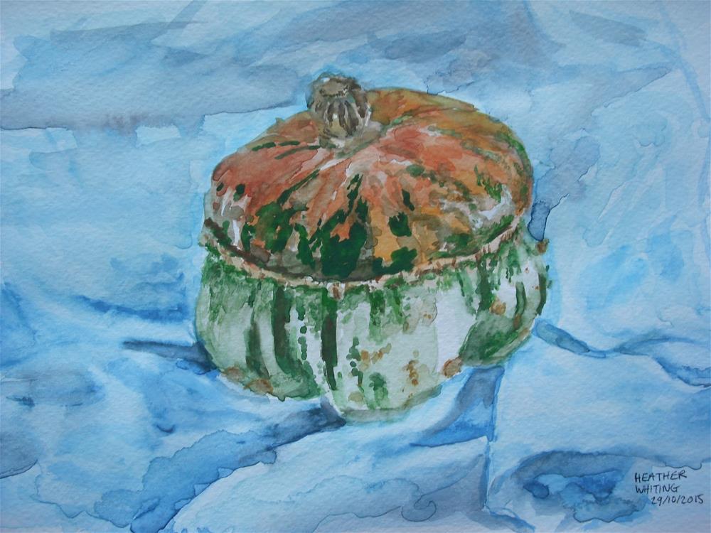 """Turks' Turban Squash"" original fine art by Heather Whiting"