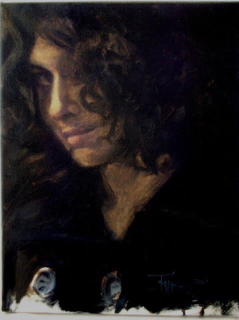 """Alexa  portrait painting"" original fine art by Robin Weiss"