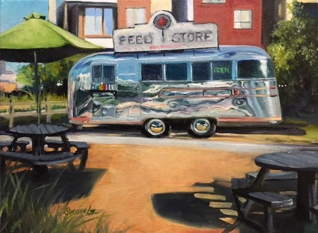 """Foodie Feeder"" original fine art by Terri Buchholz"