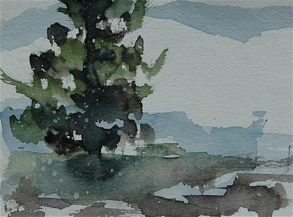 """Snow is coming... 2"" original fine art by Ulrike Schmidt"