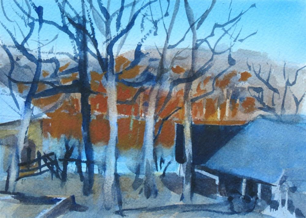 """First Rays Winter Morning"" original fine art by Dann Morris"
