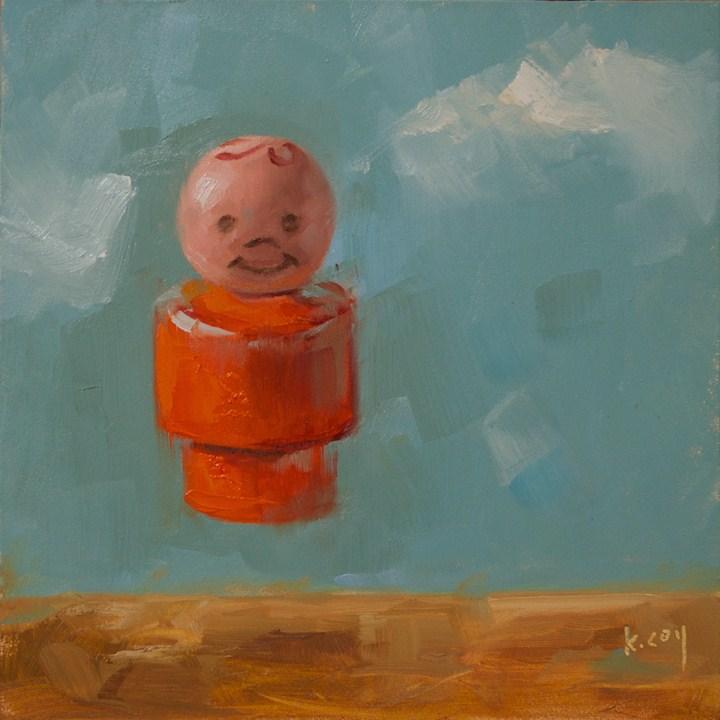 """Jump"" original fine art by Kathleen Coy"