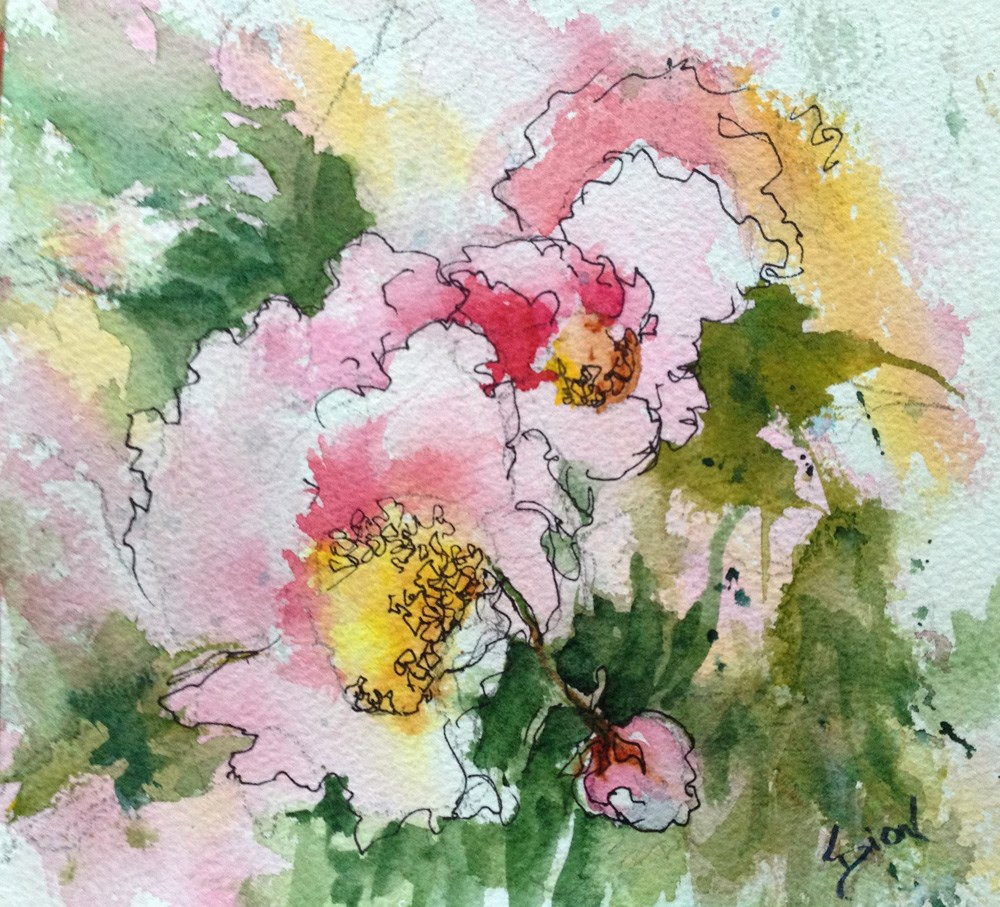 """Peonies at Pickety"" original fine art by Sue Dion"