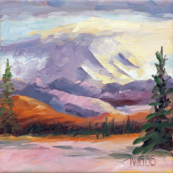 """Landscape 6 Mt Rainier"" original fine art by Lori Twiggs"