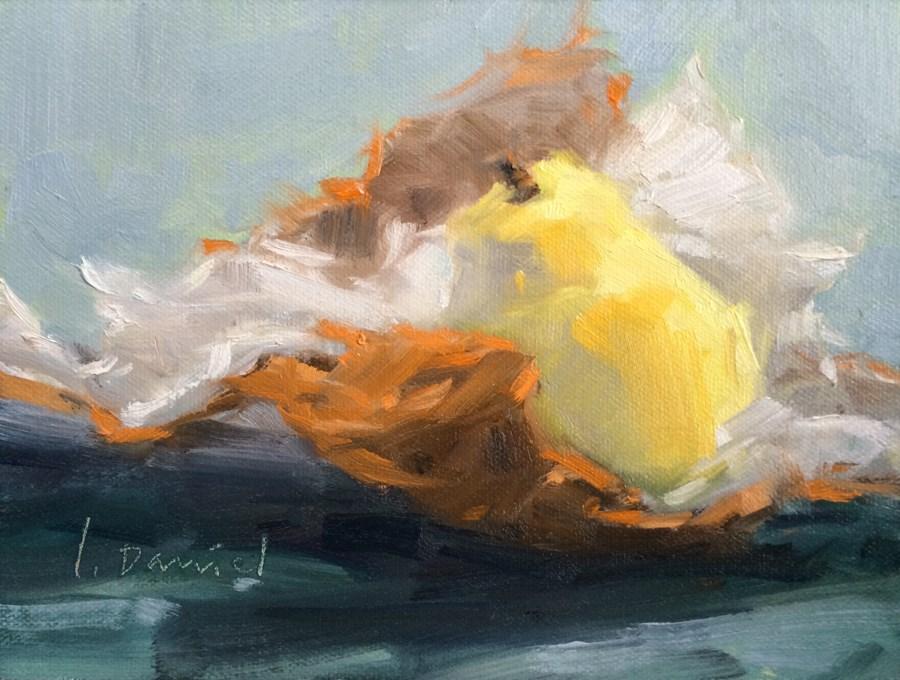"""Golden Pear - 30 in 30 Challenge"" original fine art by Laurel Daniel"