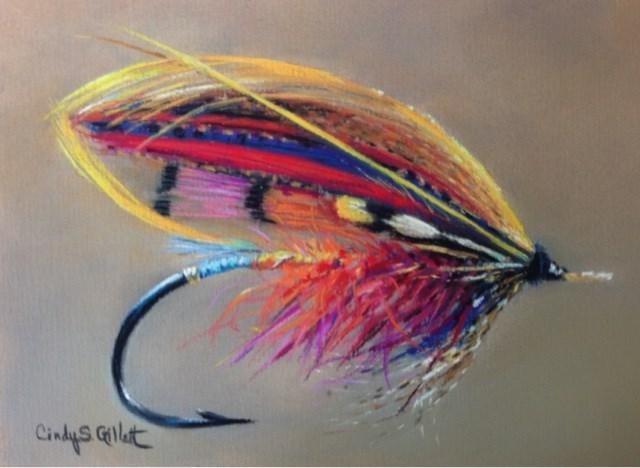 """Fly 1 - The Poynder"" original fine art by Cindy Gillett"