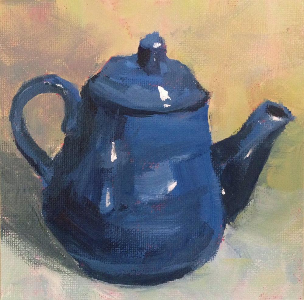"""Blue Teapot"" original fine art by Shannon Bauer"